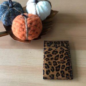 JCrew Leopard Wallet